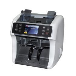 2 Pocket Mix Currency Professionelle Geldzähler und Sortierer, Bill Sorter, Banknotendetektor
