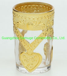 Galvanotechnik Glas Becher Custom Rose Gold Galvanisiert Glassaft Wassertasse