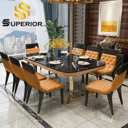 Mesa De Comedor de estilo europeo, mesa de comedor Muebles de acero inoxidable