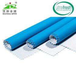 À prova de poliéster com revestimento de poliuretano azul para Raincoat