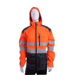 Custom Oxford Road reflectante chaqueta impermeable de rescate de los hombres la ropa con certificados CE