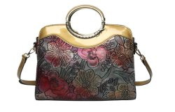 Lady Handbag الموضة التصميم اليدوية زهرة لطيفة المقبض المعدنية حقيبة يد حزام الأمان القابلة للضبط ذات النمط الجديد