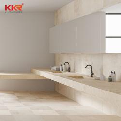 Kkr personnalisée en usine blanc/noir/gris/beige/bleu/vert/en marbre/granit marbre artificiel/Cuisine Salle de bains en pierre de quartz Island/table/Bar/Counter Tops de courtoisie