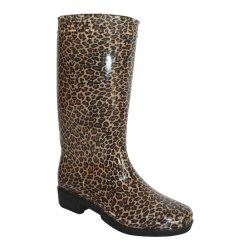 Nuevo diseño de moda las botas de caza de goma suave lluvia coloridos zapatos mujer botas de lluvia de caucho natural