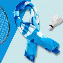 100% algodão toalha de mão para o pescoço, roupas de ginástica ginásio para mulheres e homens, macio e toalha respirável para desportos aquáticos, ténis dons, badmington