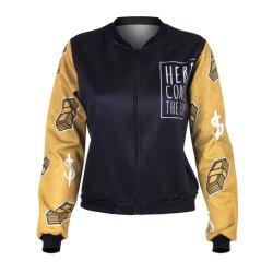 Outdoor Laisure unisexe Vêtement de mauvaises herbes et d'or de l'argent Bomber Vêtements Sportwear Veste d'impression