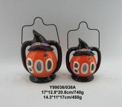 Saída oco do Halloween Abóbora Boo de sinalização