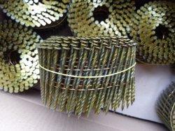 Vástago de tornillo de clavo de la bobina para la elaboración de palet de madera y el marco en el tamaño de 2,5 mm X 65mm