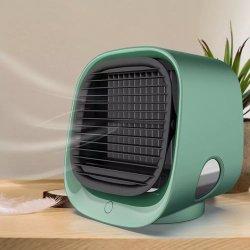 Mini ordenador de sobremesa ventilador enfriador de aire aire acondicionado con luz de noche Puerto Mini USB Ventilador de refrigeración de agua purificador humidificador verano multifunción