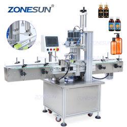 ZONESUN pneumatique en plastique carré rond bouteilles en verre désinfectant pour les mains vis automatique de capsulage de bouteilles