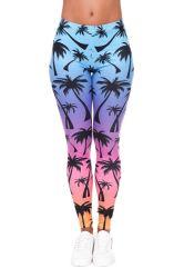 Sexy pantalones de yoga Clolorful impreso el logotipo personalizado pantalón largo mujer Leggings ajustados