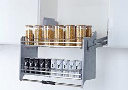 Quincaillerie pour armoire à paniers à tirer porte-plat de cuisine (PTJ018G-800)