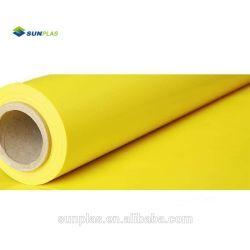 Venda por grosso baixa quantidade mínima de cor personalizada amarelas baratas tamanho de disco da placa do painel de Plástico Rígido de rolo de PVC