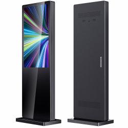 43 55 65 75 86 인치 Super Slim 바닥 스탠딩 Outdoor 2000nits 방수 미디어 광고 포스터 LCD 비디오 플레이어 키오스크 패널 터치 스크린 키오스크 디자인