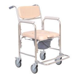 연장자를 위한 바퀴를 가진 접히는 알루미늄 Commode 의자