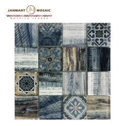 Новая коллекция каменных горячая продажа сочетание высокого качества цветной мозаики струей воды мозаика черного стекла плитки мозаики Craft плитки для монтажа на стену