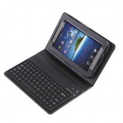 Lederner Fall für Samsung P1000 mit Bluetooth Tastatur