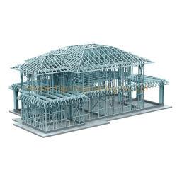 Preço razoável de alta qualidade Estrutura de aço prefabricados House Villa