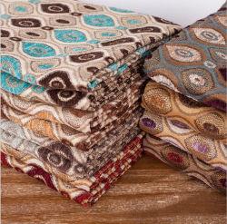 Цветочными орнаментами, 100% полиэстер пряжа Вся обшивочная ткань из жаккардовой ткани Chenille диван ткань