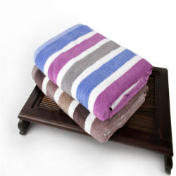 Новый стиль полосой в японском стиле высокого класса пряжи Вся обшивочная ткань большой толщины и купания полотенце торговой марки может быть обработан для частного заказ