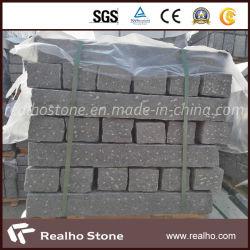 Prix bon marché Rough choisi freiner la pierre de granit gris noir pour le projet