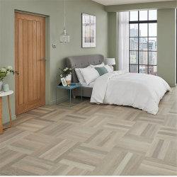Superfície de madeira maciça de cor cinza Carvalho Russo estilo em ziguezague Engineered piso de madeira