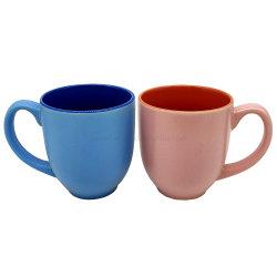 ギフトのマットによって艶をかけられる腹形の陶磁器のコップのためのOEMデザインそしてカラー