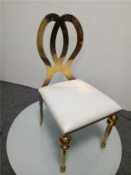 Antiker weißer Stuhl-klassischer Entwurfs-Barcelona-Stuhl mit Edelstahl-Rahmen für Hochzeit