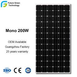 Panel PV monocristalino 200 W para el Módulo de Sistemas de calefacción de piscina Solar