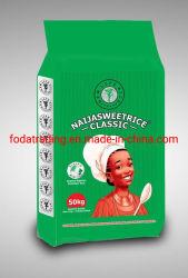 Fabrik Customized 25kg, 50kg Sack, Weißer Kunststoff PP gewobene chemische Widerstände Beutel Sack für Pulver, Dünger, Reis, Zucker, Mehl, Zement, Getreide