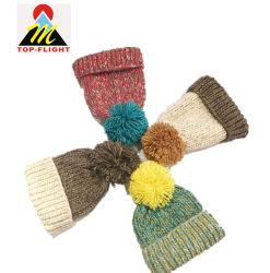 Tricot personnalisé POM POM Beanie Hat hiver Chapeau chaud Watch Cap