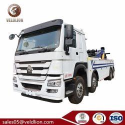 Sinotruk HOWO 8*4 16ton/25ton/50ton/60ton/70ton Unidade Direita de Controle Remoto caminhões de Recuperação de Reboque de reboque