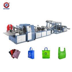 Completamente automatico con Ultrasonic Online manico sigillante tessuto non tessuto Borsa per la spesa T-shirt Bag D Cut Vest Borsa Stringing Shoe Bag Making Machine