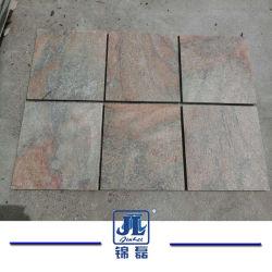 La pierre naturelle le carrelage de quartzite de sable doré pour le pavage/décoration extérieure