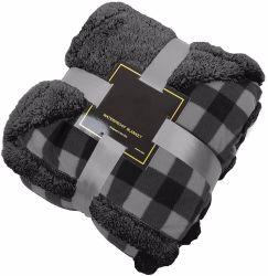 Wholesale duradera Peluche personalizado Reversible Sherpa manta polar impermeable