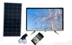 32 voller HD Solarbildschirm des Zoll-mit Adapter LED Wechselstrom-220V Fernsehapparat