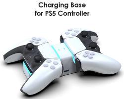 Byit Dobe aufladendock-Station 2021 für Controller PS5 Typen-c Aufladeeinheits-Standplatz-Halter mit USB-Adapter für Spiel Station5 Gamepad