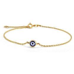 Monili dei monili di modo del braccialetto di disegno dell'occhio diabolico della catena della traversa dell'argento sterlina 925