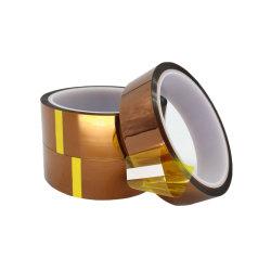 Polyimideの熱の電気タスクのための高温抵抗力がある付着力の金テープ