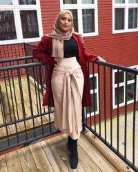 Mode Femmes jupe de la courroie de salopettes robe fond musulmane longue jupe crayon de bandage Ramadan partie Culte islamique de l'habillement