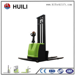 Kleine Capaciteit 100kg 1500kg van het Type van Stapelaar van de Pallet van de Vorkheftruck van de batterij De Elektrische Bevindende