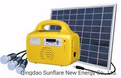 10W FM/MP3/поддержка вентилятор солнечные домашние системы освещения/комплект/лампа для Electricity-Lack районах