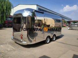 شعبية مرآة الفولاذ المقاوم للصدأ Airstream شاحنة الطعام مع فرن