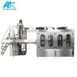 3 em 1 de refrigerantes bebendo água gasosa Equipamentos/sumo de garrafa pet automática máquina de enchimento
