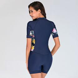 新しいスーツによって印刷される容易な乾燥した女性の飛び込みの波のウェットスーツのダイビングのサーフのウェットスーツの水泳の摩耗