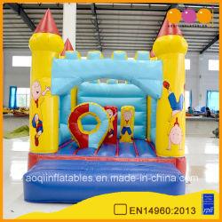 Bello castello rimbalzante gonfiabile dell'interno per il parco di divertimenti (AQ561)
