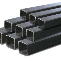 hollow Section Steel Tube ERW Ms 까만 단련된 강철 정연한 관