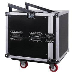10スペースPA/DJ傾いたミキサーの上が付いているプロ可聴周波ラックまたは道の箱
