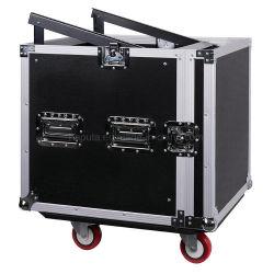Espacio de 10 PA/DJ Pro Audio Rack/carretera con mezclador de Slant Top