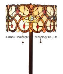 TFF-8772 lampada da pavimento in vetro colorato a doppia luce in stile tiffany Vitorian
